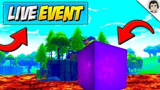LOOT LAKE TURNING TO LAVA! LIVE EVENT *RELEASE DATE* (Sound FX / Footage) Fortnite LEAKED Cube Event