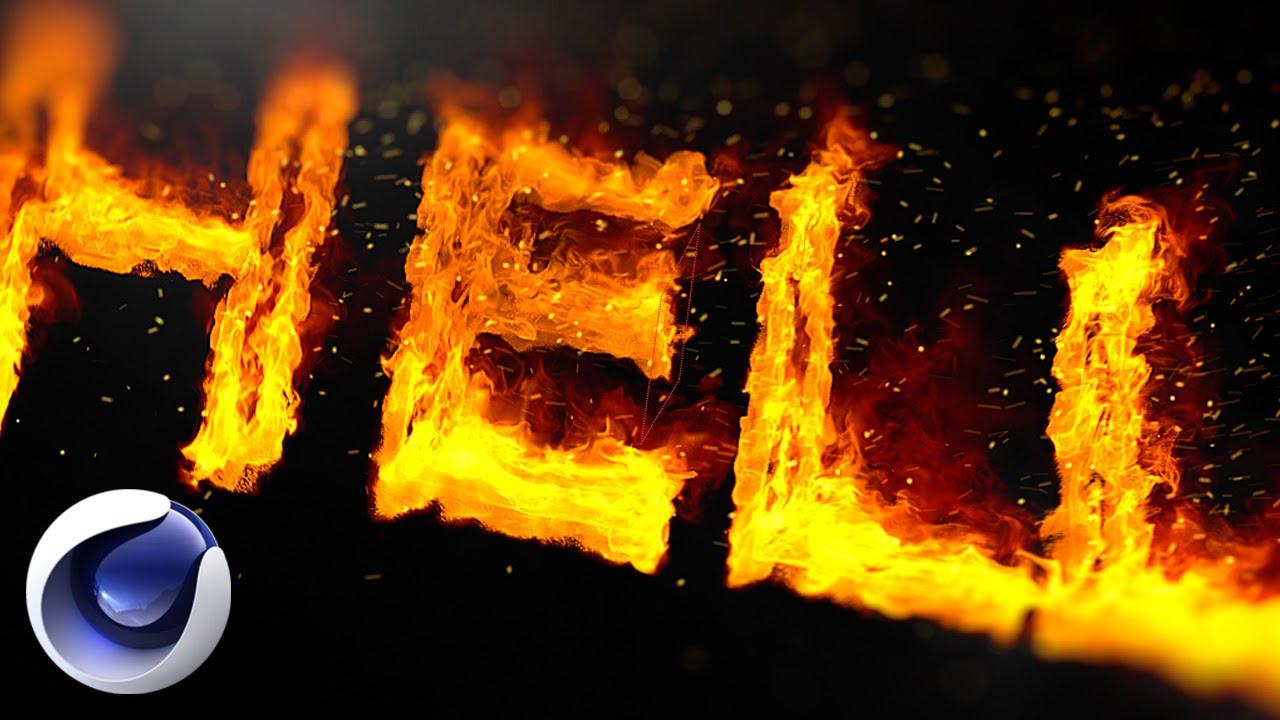 Как в фотошопе сделать огненный текст