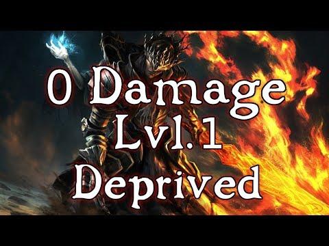 Worlds First 0 Damage Taken at SL1 (Deprived) - Dark Souls 3