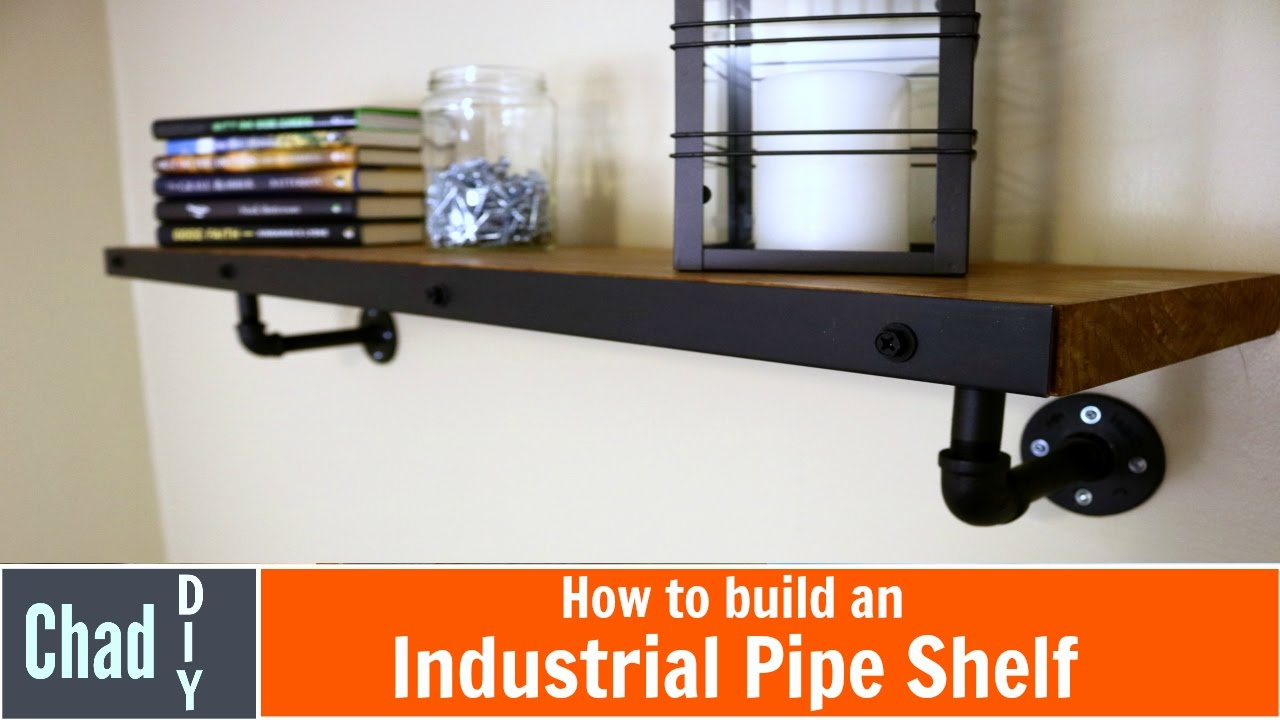 Man Cave Shelves : Diy industrial pipe shelf with man cave tour youtube