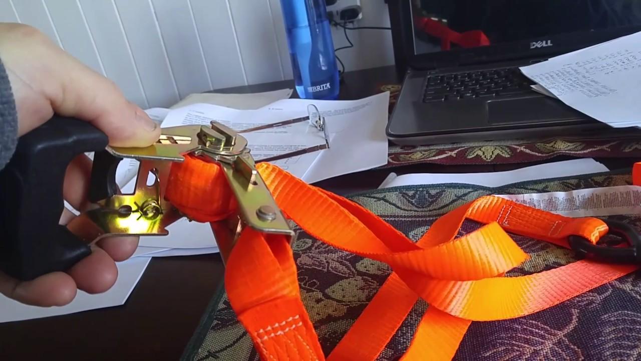 Hook up ratchet strap
