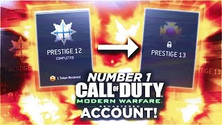 COD4 Remastered: FIRST 13TH PRESTIGE in the WORLD! #1 Call of Duty Modern Warfare UAV