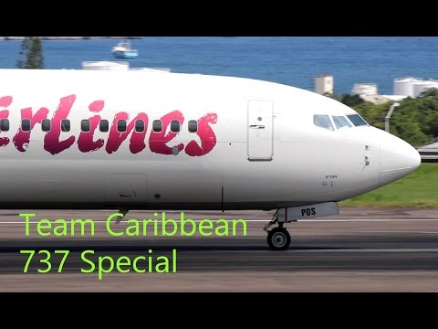 Epic !!!! Boeing 737 Special from Team Caribbean (HD 1080p)