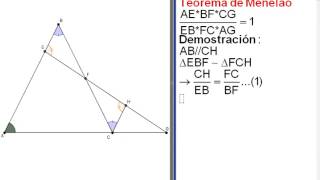 Teorema de menelao demostración