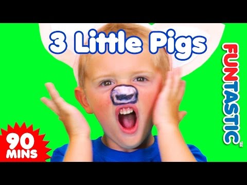3 Little Pigs + MORE Nursery Rhymes  90 Minutes  Songs for Kids