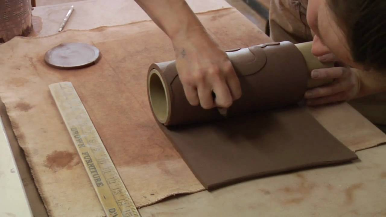 Clay pottery slab building how to form a round vase youtube reviewsmspy