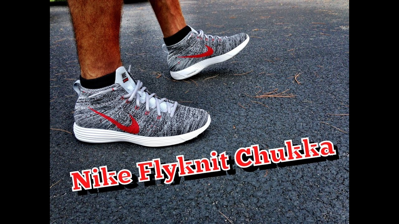 nike lunar flyknit chukka review amp on feet youtube