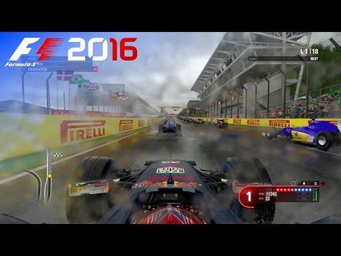 F1 2016 - 25% Rain Race at Autódromo José Carlos Pace, Brazil in Verstappen's Red Bull