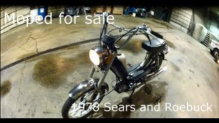 FOR SALE: 1978 Free Spirit Sears And Roebuck Moped