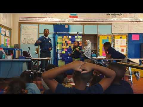 Mentoring children at Moravia Elementary School in Baltimore City
