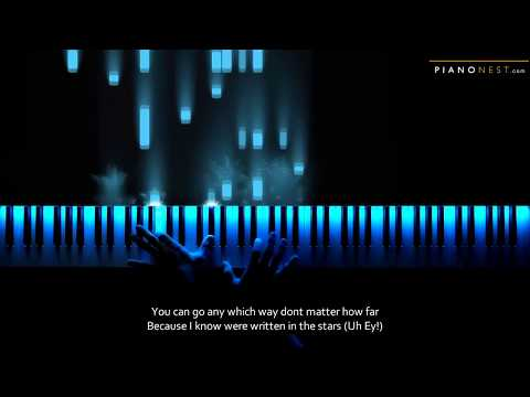 John Legend & WENDY - Written In The Stars - Piano Karaoke / Sing Along Cover with Lyrics