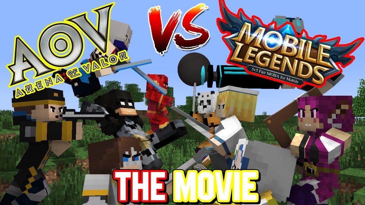 Aov Vs Mobile Legends The Movie Animasi Minecraft Indonesia