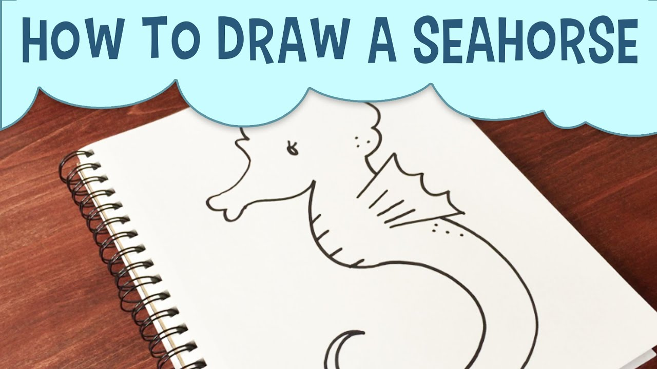 learn how to draw a cartoon seahorse easy step by step seahorse drawing tutorial for beginners youtube