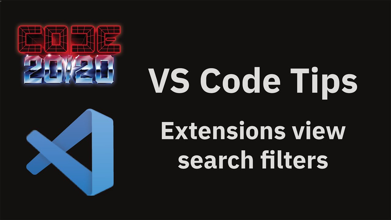 Extensions view search filters