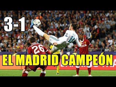 REAL MADRID 3-1 LIVERPOOL. BRUTAL CHILENA DE BALE Y EL MADRID QUE GANA SU 13ª CHAMPIONS