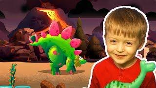 Игра про Динозавров для Детей Защищаем Яйцо от Траглодитов #9  Мультик про Динозавров Lion boy