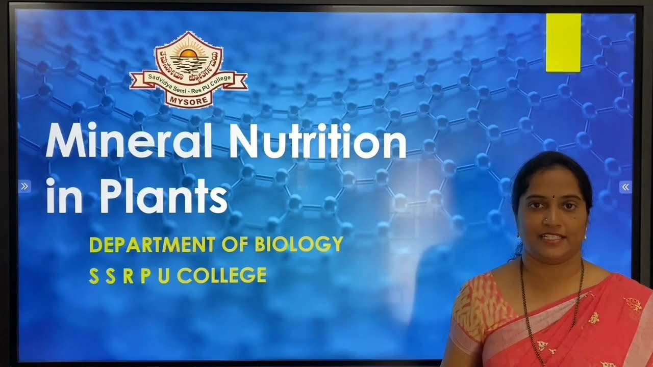 I PUC | BIOLOGY | MINERAL NUTRITION IN PLANTS  - 01
