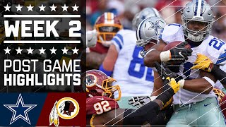 Cowboys vs. Redskins | NFL Week 2 Game Highlights