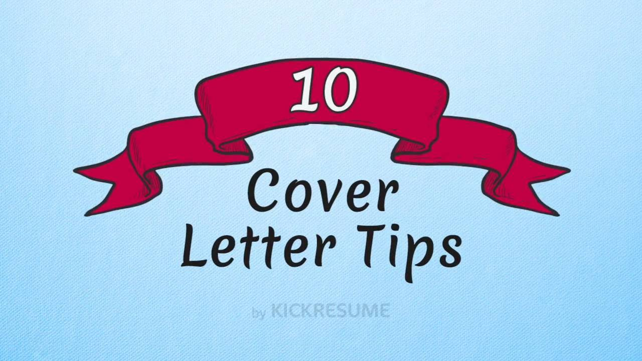 10 Cover letter Tips That Will Help You Get Hired - YouTube