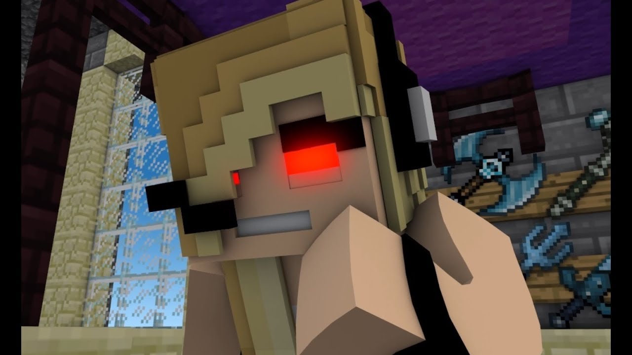 New Minecraft Song Psycho Girl  Psycho Girl Song Minecraft Animation Music Video Series