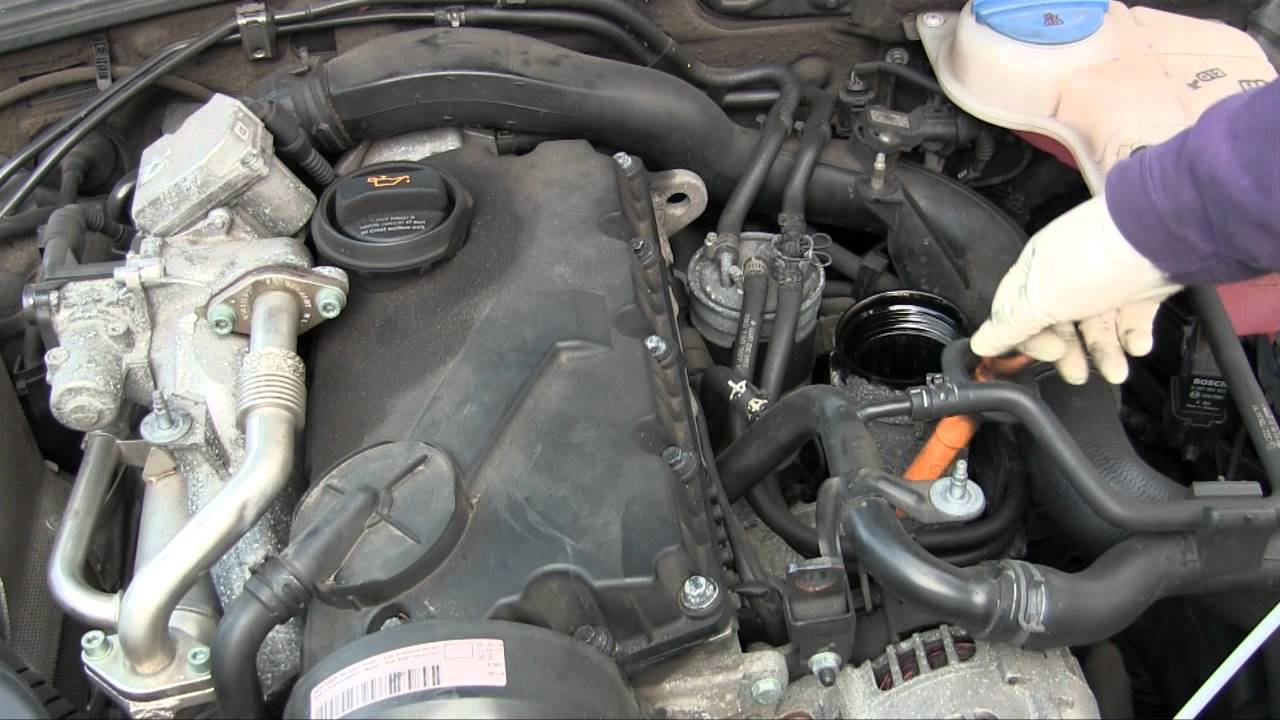 hight resolution of how to diy oil change on vw passat tdi somewhat similar on volkswagen jetta tdi youtube