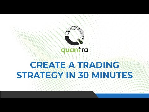 Create A Trading Strategy In 30 Minutes | Python For Finance | Quantra By QuantInsti
