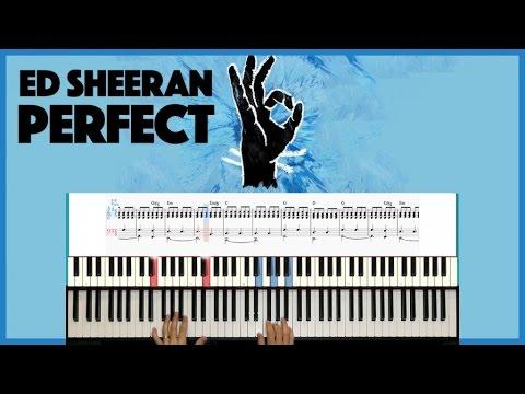 PERFECT - Ed sheeran - PIANO SCORE HOW TO PLAY