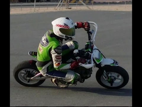 pit bike Training in the parking @Qatar