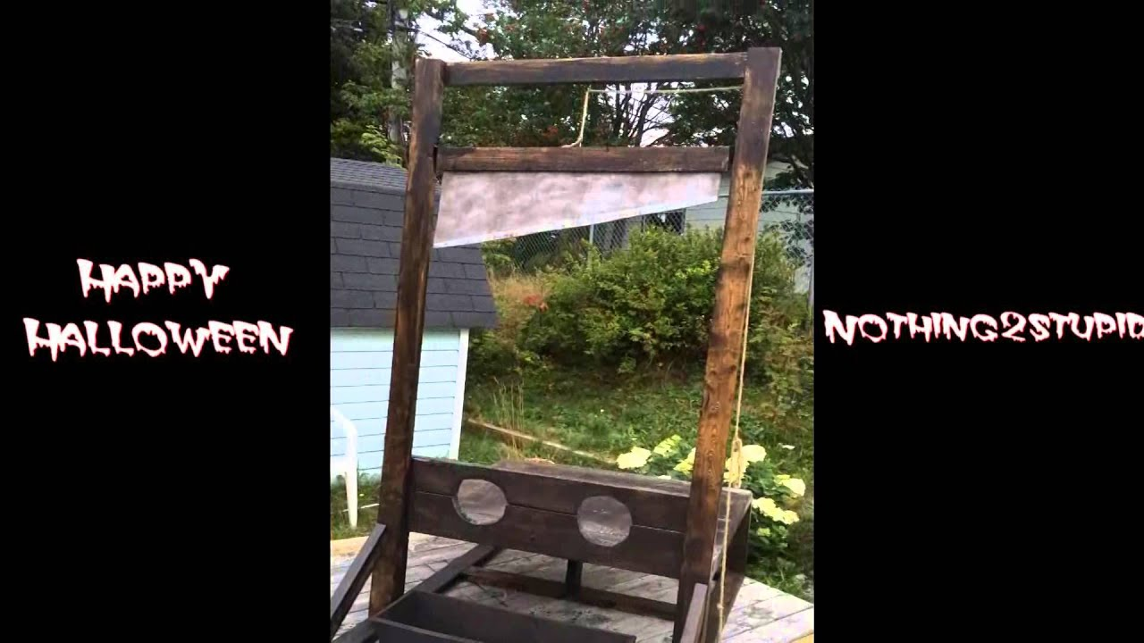 Double Guillotine Halloween Prop - Woodworking Project DIY - YouTube