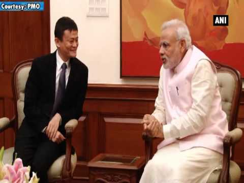 Chinese e-commerce giant Alibaba's founder meets PM Modi
