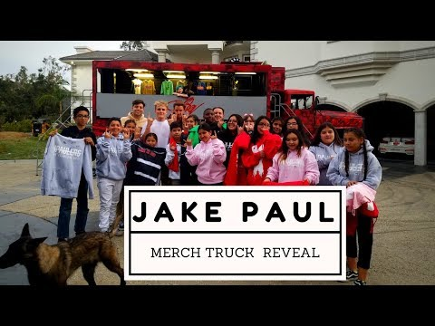 WE WERE INVITED TO JAKE PAUL'S HOUSE FOR HIS MERCH TRUCK REVEAL! *NOT CLICKBAIT!*