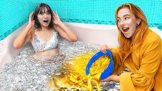 Gold Girl vs Silver Girl / Color Challenge!