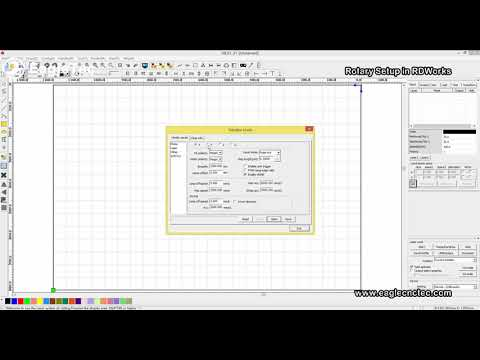 How To Do Laser Engraving Machine Rotary Parameter Settings In RDWorks