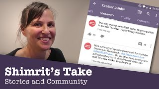 Stories and Community - Shimrit's Take! thumbnail
