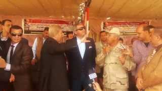 Minister of Youth and Ismailia Governor and kamel alwazer  and 1200 Girl in the new Suez Canal