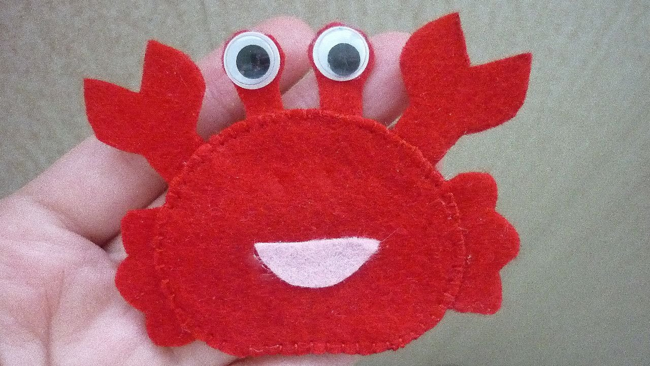 How To To Make A Cheerful Crab Of Felt Diy Crafts