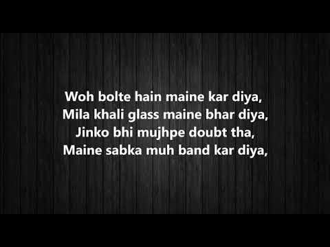 Driving Slow   Badshah   Full Song With Lyrics   Panasonic Mobile MTV Spoken