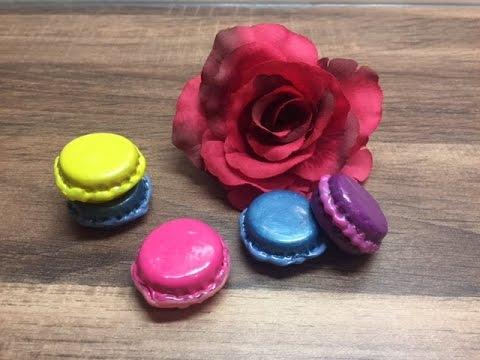 diy miniatur macarons herstellen basteln mit und f r kinder mit dingen die man zuhause hat. Black Bedroom Furniture Sets. Home Design Ideas