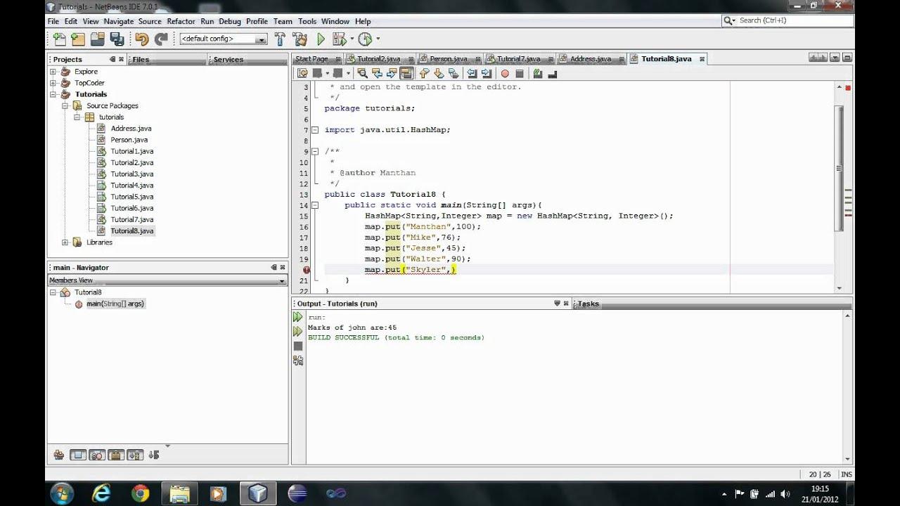 Java Tutorial - Hashmaps - Session 12