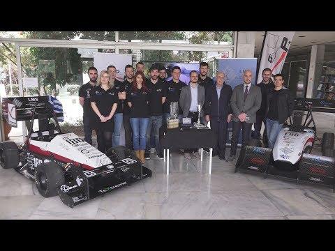 """Παρουσίαση δύο ηλεκτρικών μονοθέσιων της ομάδας Formula Student """"UoP Racing"""", του Π/μίου Πατρών"""