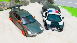 Мультик про машинки - 186 серия:  Полицейская погоня, Гоночная машина, Монстр Трек, Трактор