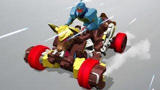 Power Ranger Ninja Steel | Zord Toro y Zord Robo-Jinete - Batalla Megazord