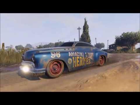 Hudson Hornet - Doc Hudson Shows His Real Driving - GTA V - Albany Hermes