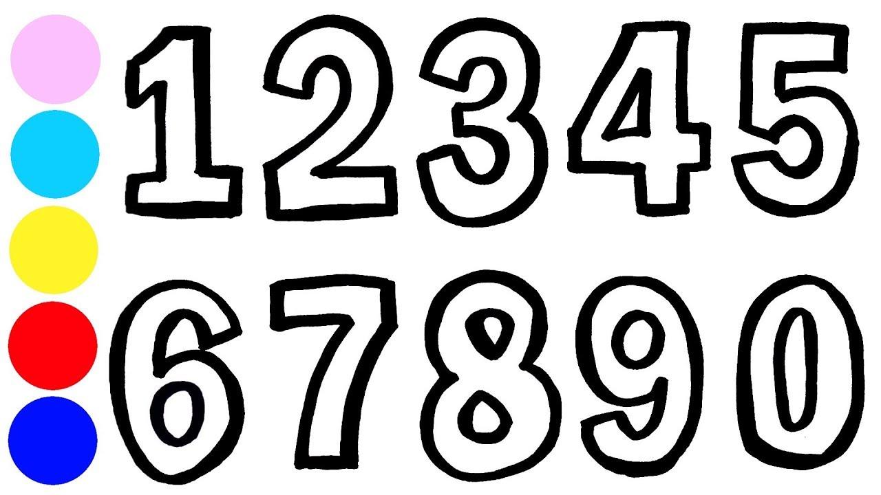 Рисуем и раскрашиваем цифры | Раскраска для детей ...