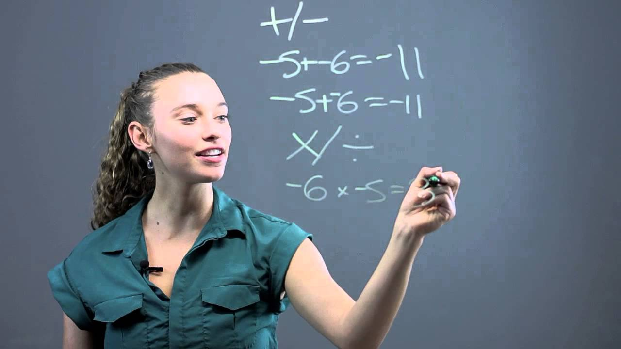 How to Add, Subtract, Multiply & Divide Negative Numbers : Math ...
