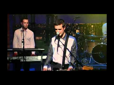 "White Lies - ""Bigger Than Us"" 5/16 Letterman (TheAudioPerv.com)"