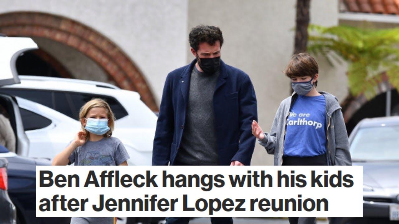 Ben Affleck hangs with his kids after Jennifer Lopez reunion