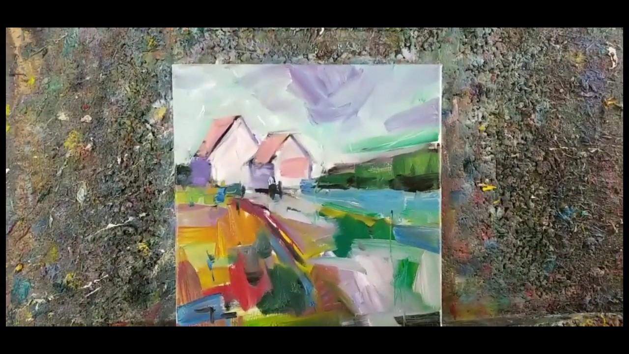 Loose Brush Style Impressionism Demo - Oil Painting - Artist Jose Trujillo