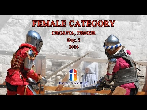 "Female Category. Finals. Day 3. ""Battle of the Nations"" - 2014. Croatia, Trogir"