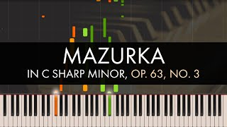 Frédéric Chopin Mazurka In C Sharp Minor Op 63 No 3 Synthesia